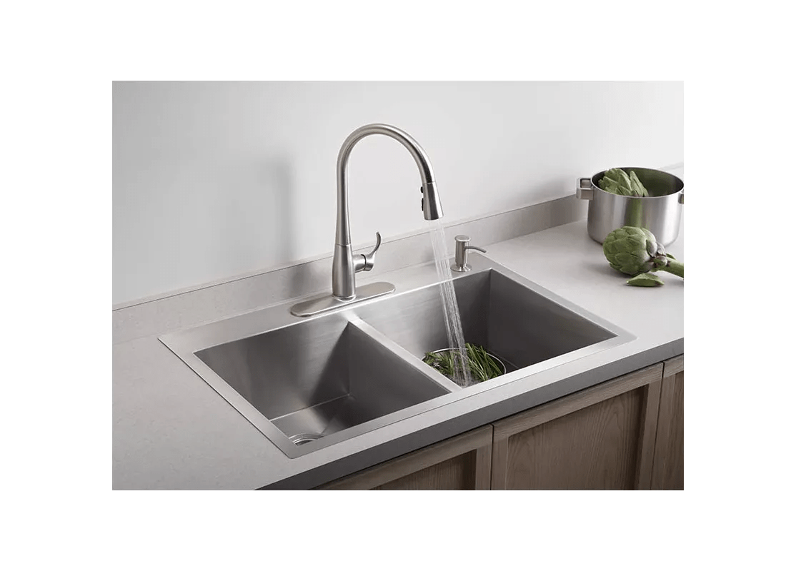 Video playback not supported replacing the kitchen faucet in your home is not that difficult. Faucet.com | K-3820-4-NA in Stainless by Kohler