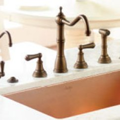 Rohl Kitchen Faucet Island Centerpiece Sinks And Accessories Faucetdepot Com Faucets