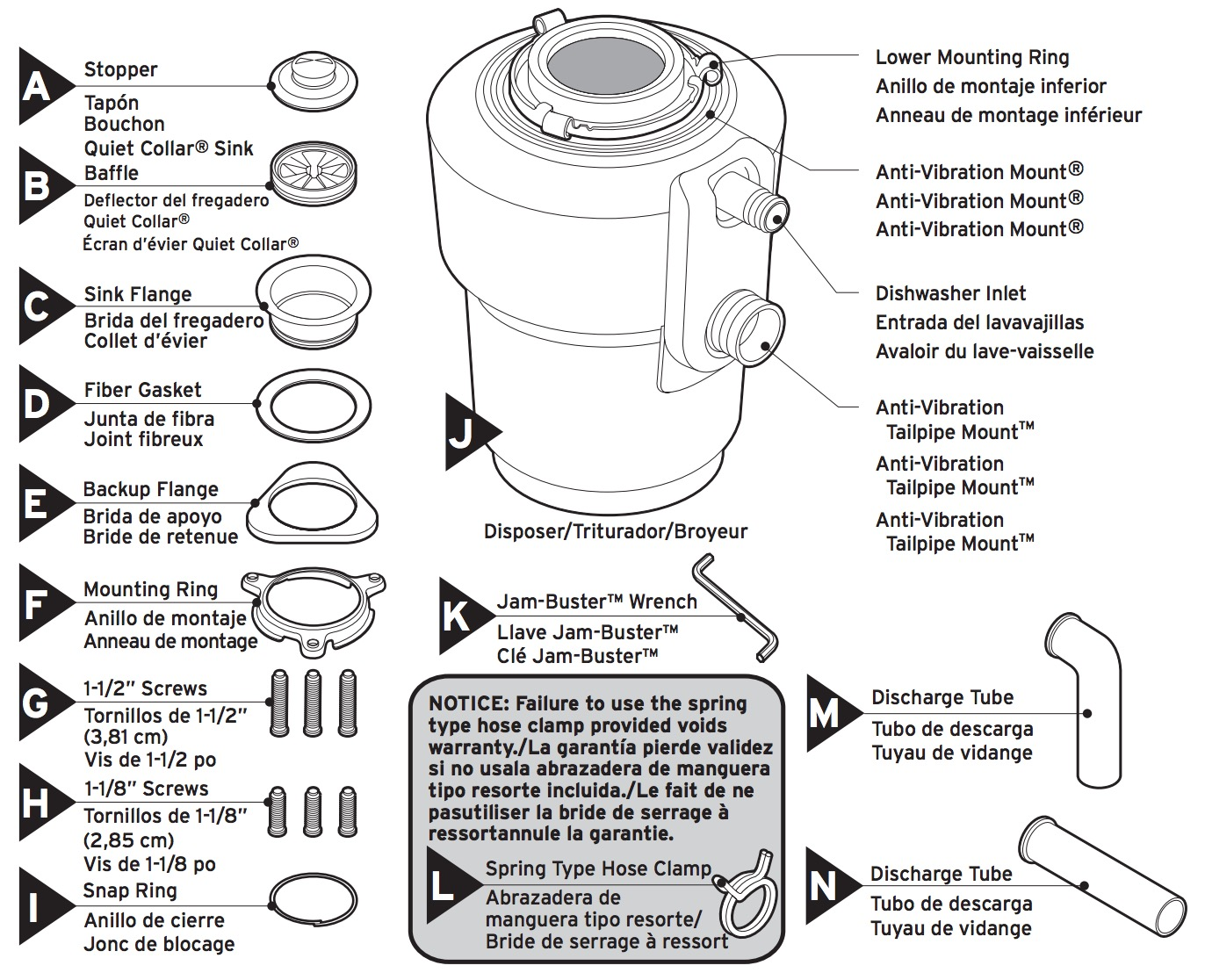 garbage disposal installation diagram square d magnetic starter wiring insinkerator excel evolution 1 hp stainless household
