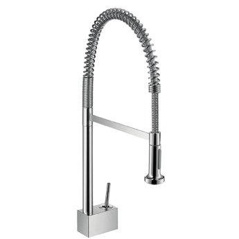 kitchen pull down faucet remodels ideas hansgrohe 10820001 axor starck semi professional chrome