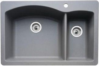 home depot faucets kitchen moen outdoor kitchens san antonio blanco 440198 diamond 1-1/2 bowl drop-in silgranit ii ...