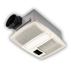 Broan QTX110HL Ultra Silent Bath Ventilation Fan and Heater with Light  White  FaucetDepotcom