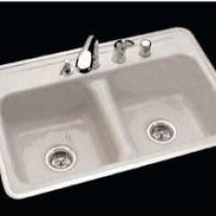 Kohler Kitchen Faucets Home Depot Decorating Ideas Kitchens Ceco Model 740-4 Hole Ledge Cast Iron Sink 32