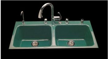 kohler cast iron kitchen sink top appliance brands sinks ceco and drop in undercounter