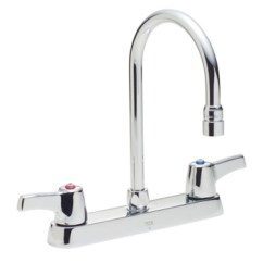 Two Handle Kitchen Faucet Pink Countertops Delta Commercial 26c3943 Teck R Series Chrome