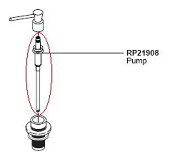 Delta RP21908 Classic Pump Assembly for RP1001 Soap