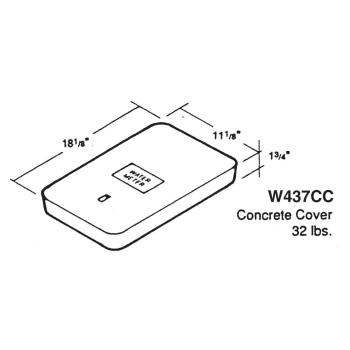 Eisel Enterprises Inc. EIS437CC-W Concrete Meter Box Cover