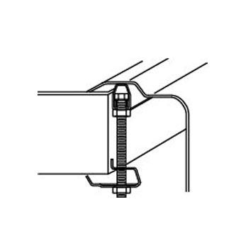 elkay lk463 set of hex head screws clips