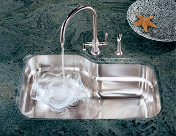 hansgrohe kitchen faucet reviews tall table and chairs for franke orx-110 orca single bowl undermount stainless steel ...