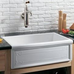 Hansgrohe Kitchen Faucets Small High Top Table Herbeau 4614 Luberon Art Nouveau Fireclay Single Bowl ...
