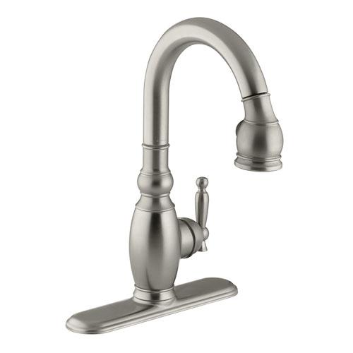 kohler k 691 bn vinnata pull down secondary kitchen faucet brushed nickel