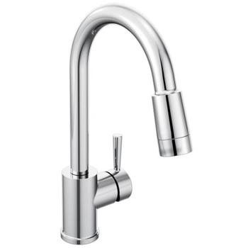 cleveland faucet group 46201 edgestone one handle pulldown kitchen faucet chrome