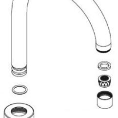 Kitchen Faucet Spout Remodeling Williamsburg Va Moen 137521 Assembly Chrome Faucetdepot Com