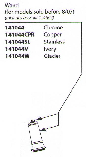 moen 141044 aberdeen replacement wand chrome