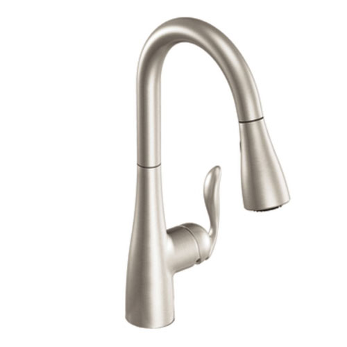 moen 7594srs arbor single handle hole pull down kitchen faucet spot resist stainless