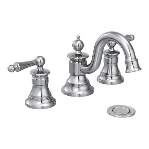Moen ShowHouse TS418 Waterhill Two Handle Widespread Lavatory Faucet Trim Chrome  FaucetDepotcom