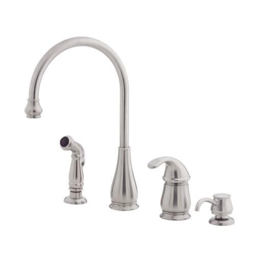 moen kitchen soap dispenser appliances reviews pfister lg26-4dss treviso single handle faucet ...
