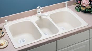 triple kitchen sink remodeling a small swanstone kstb 4422 010 bowl white