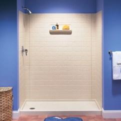 Home Depot Faucets Kitchen Moen Utensil Swanstone Ti-7260-037 Swantile Shower Wall Kit - Bone ...