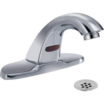 Delta Commercial 591LFHGMHDF BatteryPowered Touchless Lavatory Faucet with 4 in Centerset