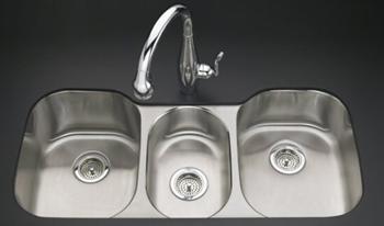 stainless steel kitchen counter design cheap kohler k-3166-l-na undertone undercounter sink ...