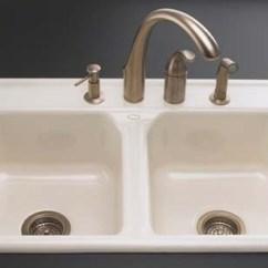 Pfister Kitchen Faucets Wood Toy Kohler K-5817-4-96 Delafield Self-rimming Sink ...
