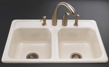 home depot kitchen sinks and faucets island lanterns kohler k-5817-4-96 delafield self-rimming sink ...