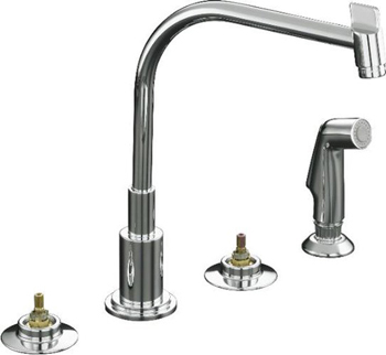 Kohler K-7779-K-CP Two Handle Kitchen Faucet with