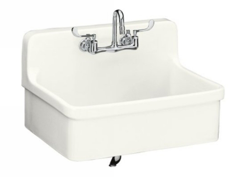kohler k 12700 0 gilford 30 x 22 apron front wall mount self rimming kitchen sink white faucet not included