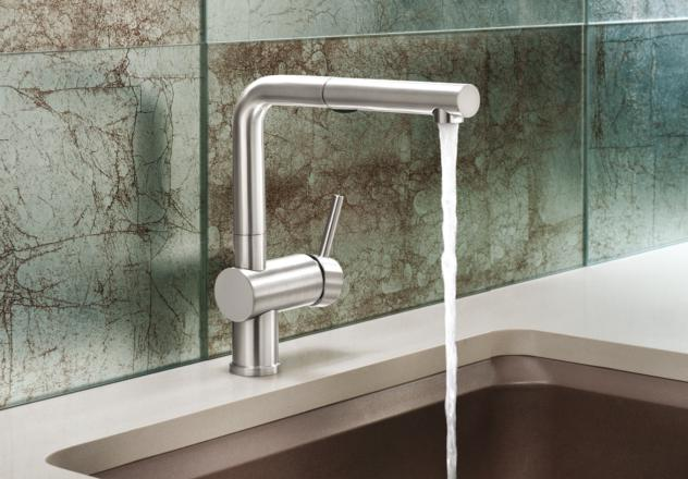 www elkay com kitchen sinks design for a small space blanco 441404 linus pullout with dual spray - satin nickel ...