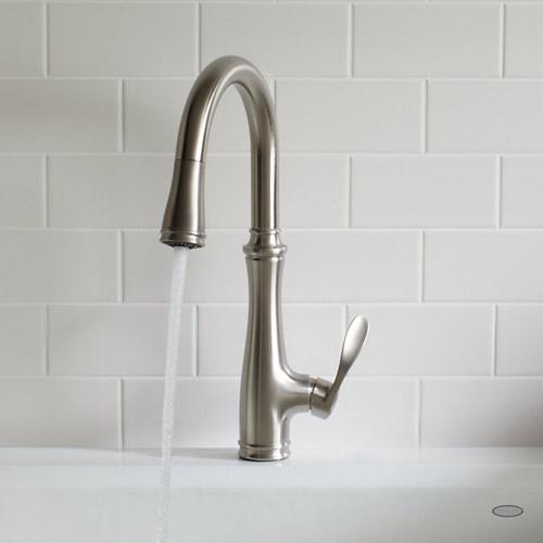 home depot moen kitchen faucets french table kohler k-560-vs bellera pull down faucet ...