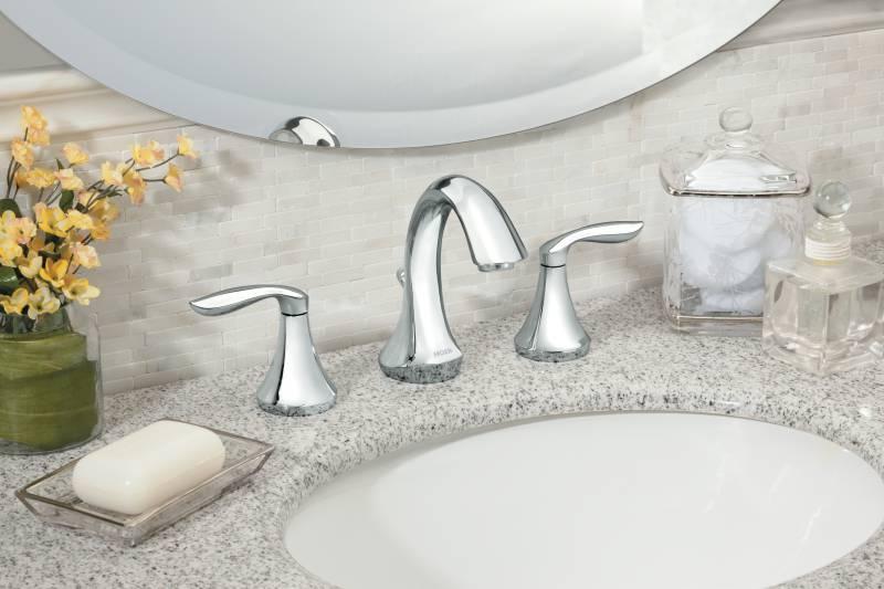Moen T6420 Eva TwoHandle Widespread Lavatory Faucet Trim Chrome  FaucetDepotcom