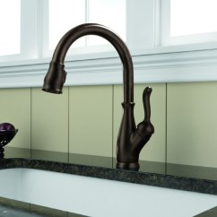 Pfister Kitchen Faucets Sheer Curtains Delta 9178-rb-dst Leland Single Handle Pull-down ...