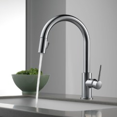 Stainless Steel Kitchen Faucet With Pull Down Spray Kitchens On Clearance Delta 9159-ar-dst Trinsic Single Handle Pull-down ...