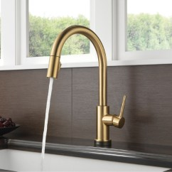 Moen Pull Down Kitchen Faucet Used Sinks For Sale Delta 9159t-cz-dst Trinsic Single Handle ...