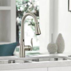Moen Kitchen Kohler Single Handle Faucet 7594esrs Arbor Hole Pull Down With