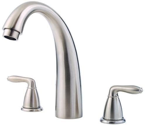 price pfister rt6 5srk serrano two handle roman tub faucet trim brushed nickel