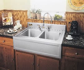 kitchen farm sink nooks for sale farmhouse sinks the famhouse apron by herbeau elkay elite gourmet double bowl with
