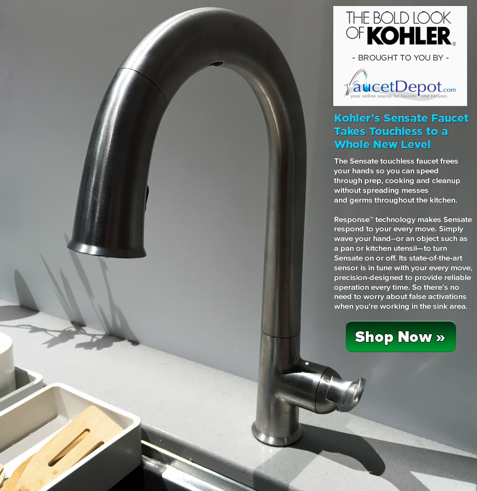 Kohler Sensate Faucets  Taking Touchless to a Whole New Level