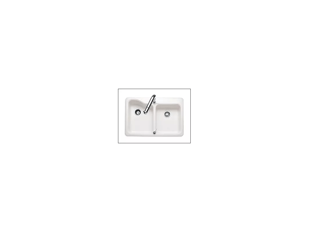 american standard silhouette kitchen sink weber outdoor 7163 202 345 bisque double basin