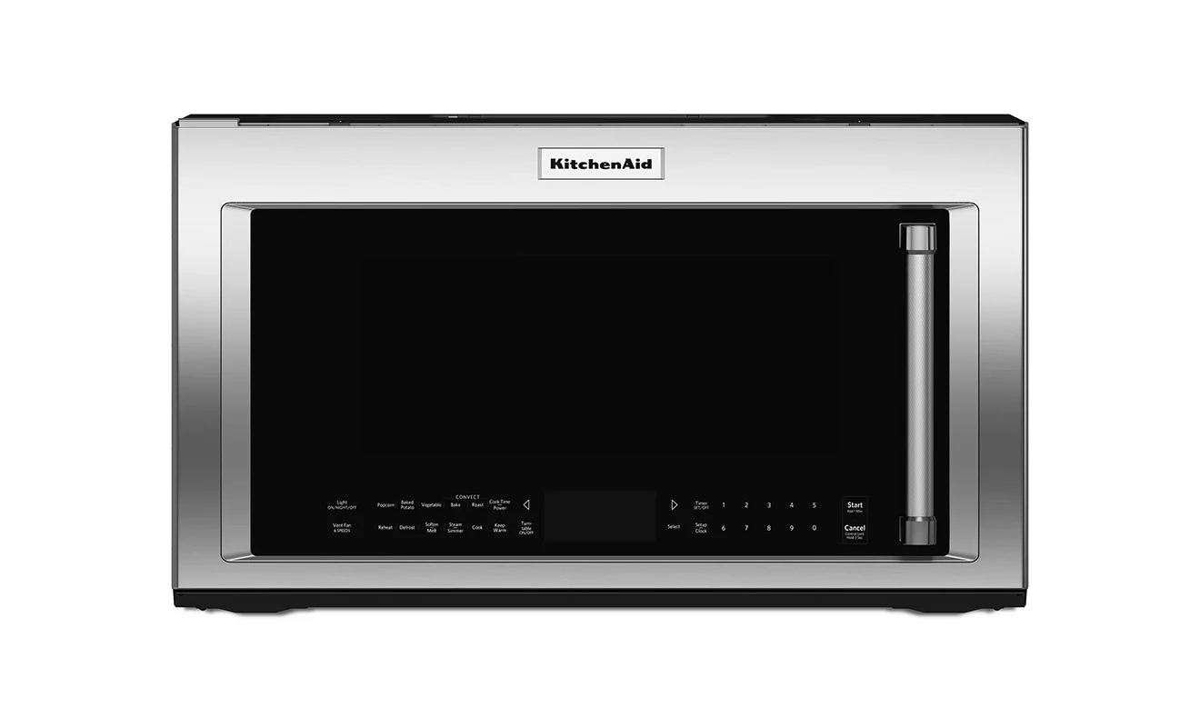 kitchen aid microwaves lighting for island kitchenaid 1 9 cu ft convection microwave