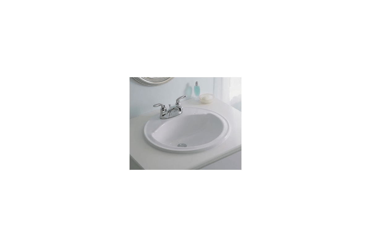 Sterling 0 White 19 Round Bathroom Sink With