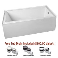 "Mirabelle MIREDS6030RWH White Edenton 60"" X 30"" Three-Wall ..."