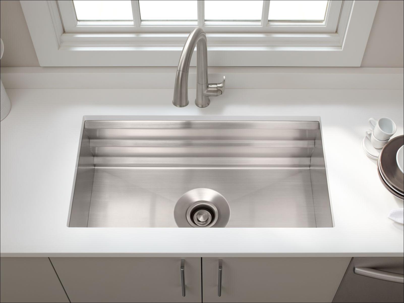 kohler kitchen sink accessories marielle faucet k 5540 na stainless steel prolific 33 quot single basin