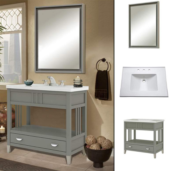 Large Bathroom Vanities and Lavatory Consoles  FaucetDirectcom