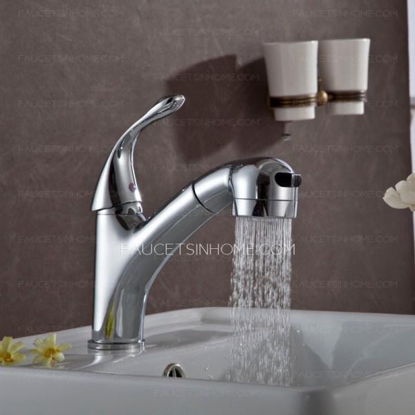 Special Pullout Spray Single Handle Bathroom Sink Faucet
