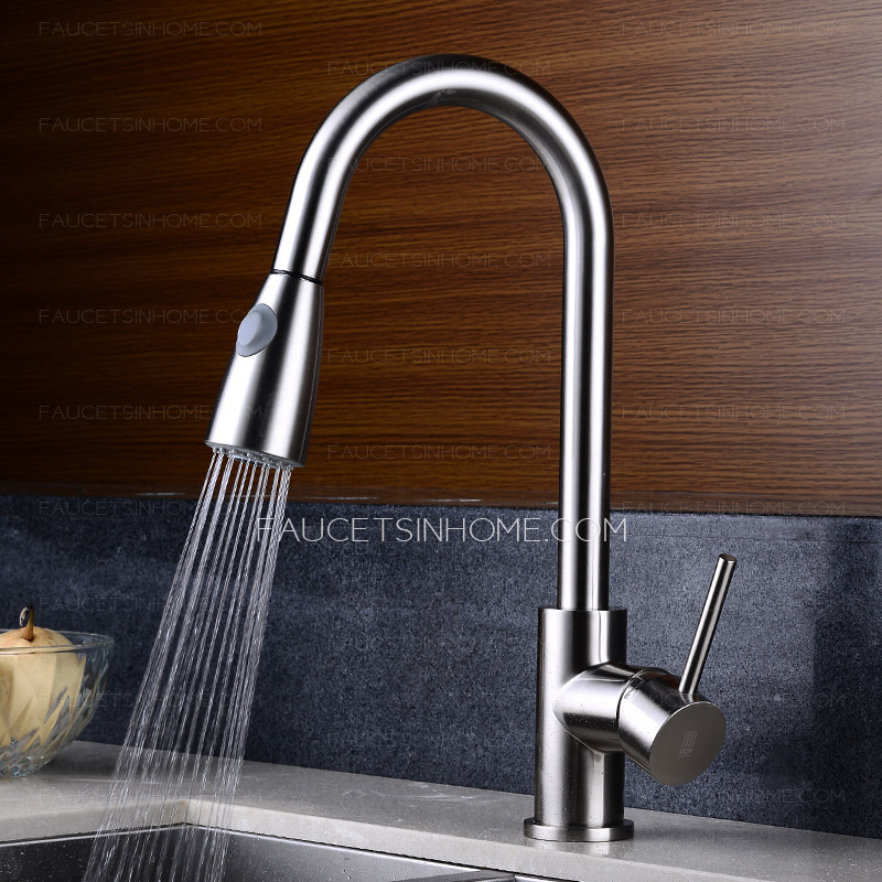 kitchen water faucet hickory cabinets best pullout spray cold and hot