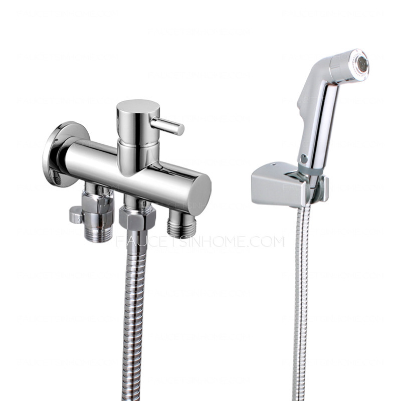 Professional Brass Soft Wall Mounted Water Bidet Faucet