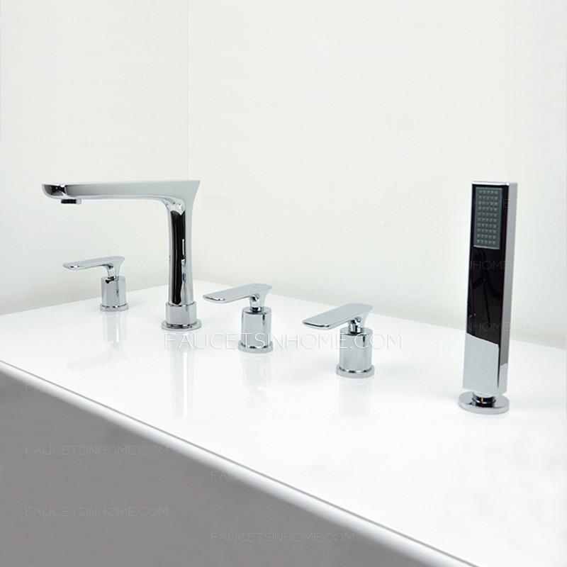 Modern Design Copper Five Hole Roman Tub Bathtub Shower Faucet