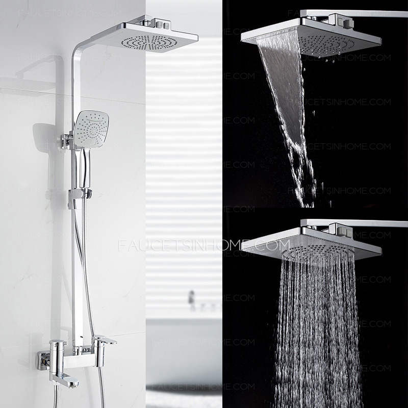 High End Waterfall Pressurized Outside Shower Faucet